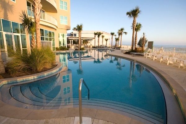 Aqua Condos Outdoor Pool Panama City Beach Florida