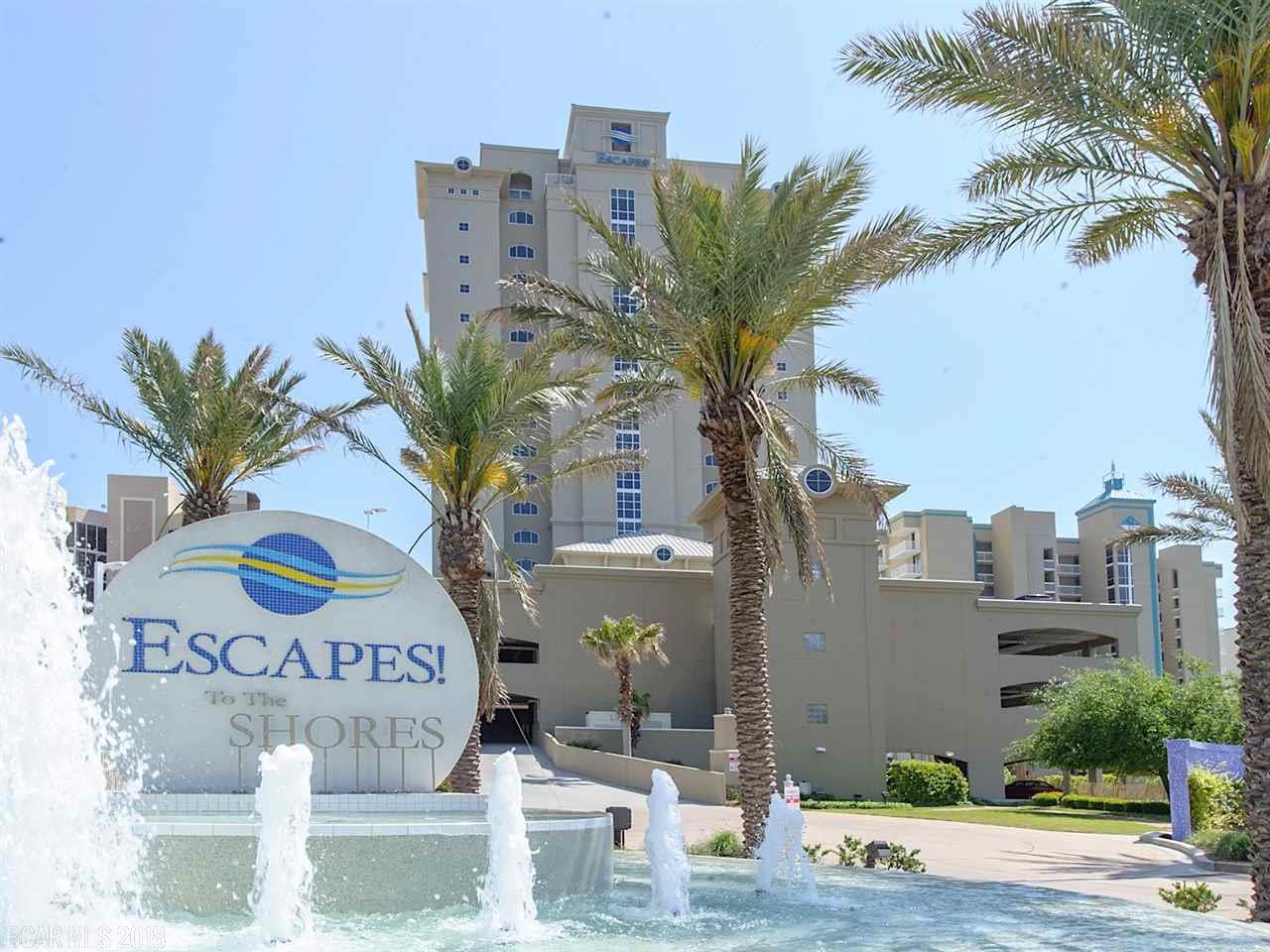 Escapes! To The Shores, Seachase, Four Seasons Condos For Sale, Orange Beach Alabama